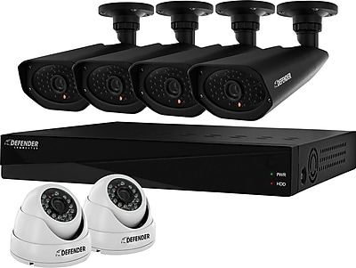 Defender 960H 8-Channel 2TB DVR with 4 x 800 TVL Bullet and 2 x 800TVL Dome Cameras