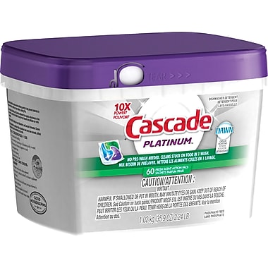 Cascade Platinum Action Pacs, Fresh Scent, 60 count