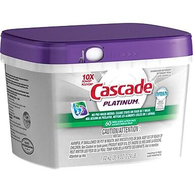 Cascade – Savon Platinum Action, parfum frais, 60 sachets