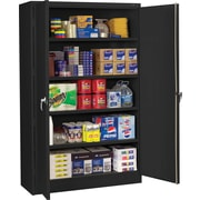 "Tennsco Assembled Jumbo 24""D Steel Storage Cabinet, Black"