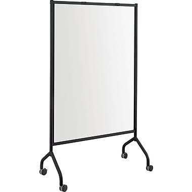Safco® - Écran complet de tableau blanc Impromptu, 42 po x 72 po, cadre noir