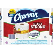 Charmin® Ultra Strong™ Bathroom Toilet Paper, 308 Sheets/Roll, 18 Mega Rolls