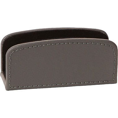 Gray Leather Business Card Holder