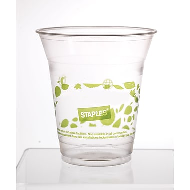 Sustainable Earth by Staples - Gobelets compostables pour boissons froides, 12 oz