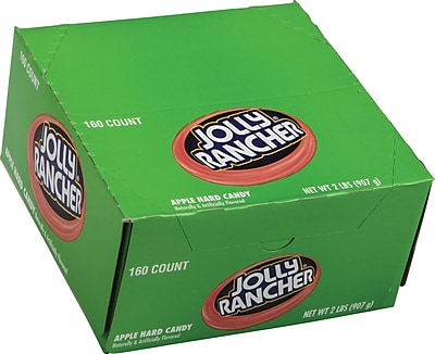 JOLLY RANCHER Hard Candy in Green Apple Flavor, 160 Count (209-00207)