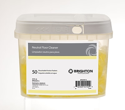Brighton Professional™ Neutral Floor Cleaner Dissolvable Portion Packets , 50/Pack