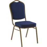 Iceberg® Banquet Chairs with Crown Back, Navy/Gold, 4/Carton