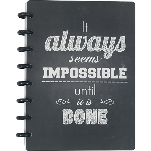 """Staples® Arc System Customizable Poly Notebook System, Always Quote, 6-1/2"""" x 8-1/2"""", 60 Sheets"""