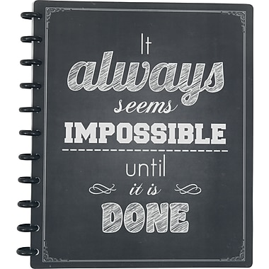 Staples® Arc System Customizable Poly Notebook System, It Always Seems Impossible, 9-1/2