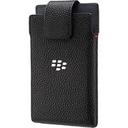 BlackBerry – Étui pivotant en cuir pour téléphones intelligents BlackBerry Leap, noir