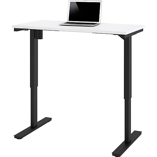 "Bestar® 48""W Electric Height Adjustable Table, White (65857-17)"