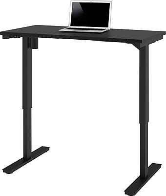 bestar 24'' Work Station Sit & Stand Desk, Black (65857-18)