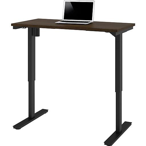 "Bestar® 24"" x 48"" Electric Height Adjustable Table, Tuxedo"