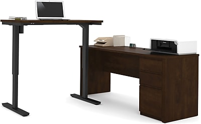 bestar Standard Sit & Stand Desk, Brown (99885-69)