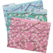 Staples® Heavyweight Floral File Folders, Letter, 3 Tab, 6/box