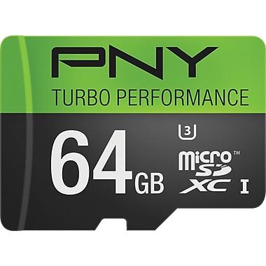 PNY 64GB Turbo MicroSDXC CL10 90MB/s Flash Memory Card
