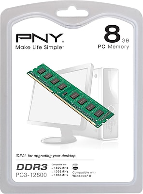 PNY 8GB Desktop DDR3 DIMM 1600