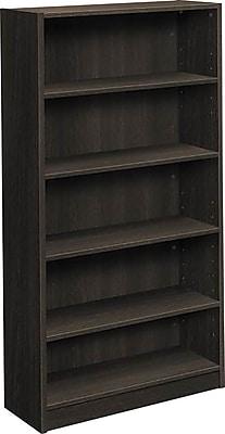 basyx by HON® BSXBL2194ESES BL-Series 5 Shelf Laminate Bookcase, Espresso Finish, 32.06