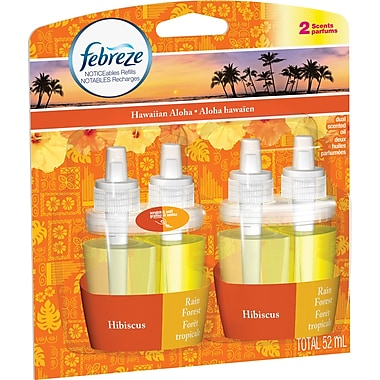 Febreze Noticeables Oils, Hawaiian Aloha Refills, 2/Pack