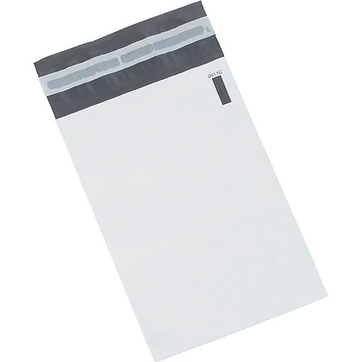 "Poly Mailers, 24"" x 36"", White, 100/Case"