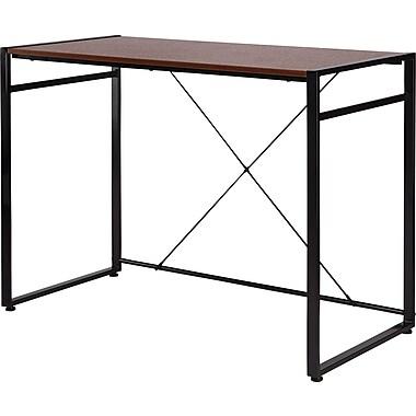 Staples® Axis Desk, Cherry Finish