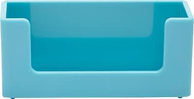 Poppin Aqua Business Card Holder