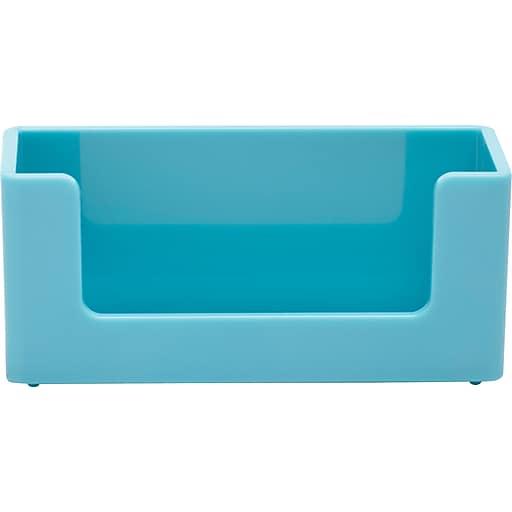 Poppin aqua business card holder staples httpsstaples 3ps7is colourmoves