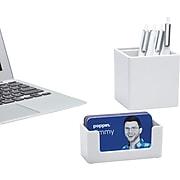 Poppin White Business Card Holder