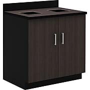 "Safco 36""H Modular Break Room Waste Management Base Cabinet, Asian Night/Black (1707AN)"