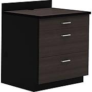 "Safco 36""H Modular Break Room Three Drawer Base Cabinet, Asian Night/Black (1703AN)"