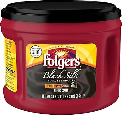 Folgers® Black Silk Coffee, 24.2 oz. Canister