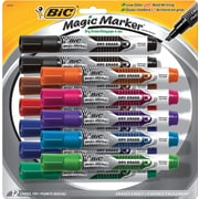 BIC® Magic Marker® Brand Dry Erase Marker, Tank, Chisel, Assorted, 12/Pk