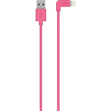 Belkin MIXITUP 90 Degree Lightning to USB Cable Pink