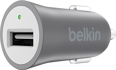 Belkin MIXITUP Metallic Car Charger Gray