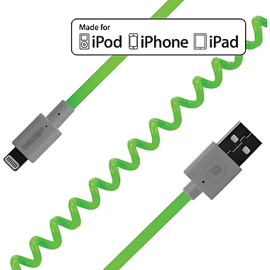 FLEX Coiled Sync and Charge Cables - Neon Green
