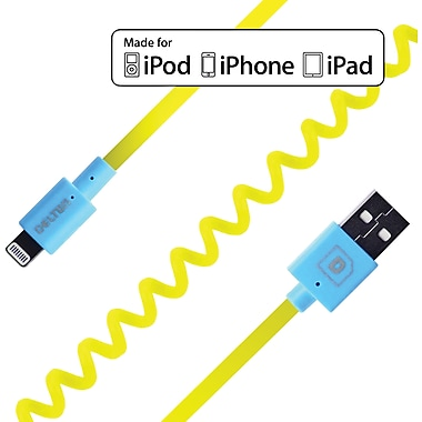 FLEX Coiled Sync and Charge Cables - Neon Yellow