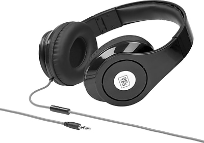 Sonic Wave DJ1000 Foldable Headphones with Mic - Black