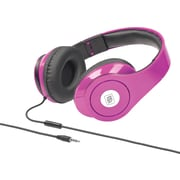 Sonic Wave DJ1000 Foldable Headphones with Mic - Pink