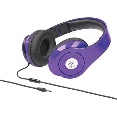 Delton Sonic Wave 1000 DJ Headphones with Mic, Purple