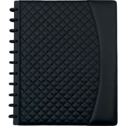 "Staples® Arc System Customizable Quilted PU Leather Notebook System, Black, 9-1/2"" x 11-1/2"", 60 Sheets"