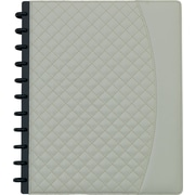 "Staples® Arc System Customizable Quilted PU Leather Notebook System, Ivory, 9-1/2"" x 11-1/2"", 60 Sheets"