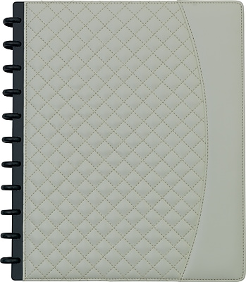 Staples® Arc Customizable Patent Quilted Leather Notebook System, Assorted, 9-1/2