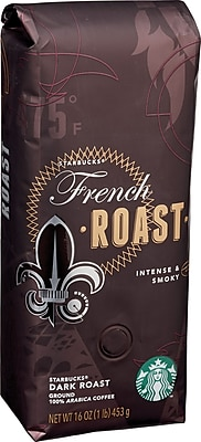 Starbucks® French Roast Ground Coffee, Regular, 1 lb. Bag