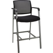 Staples Esler™ Mesh Guest Stool, Black