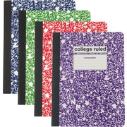 """Staples® Composition Notebook, College Ruled, Assorted Colors, 9-3/4"""" x 7-1/2"""", Each (25536M)"""