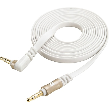 Scosche 6 Foot 90 degree angle 3.5mm Audio Cable, Gold