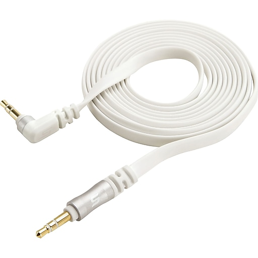 Scosche 6 Foot 90 degree angle 3.5mm Audio Cable, Silver