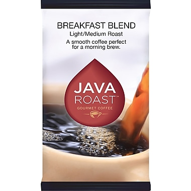 Java Roast Gourmet Breakfast Blend Ground Coffee with Filters; Regular, 1.75 oz., 42 Packets
