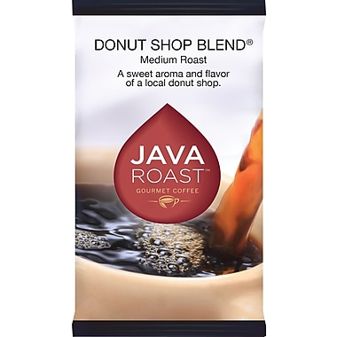Java Roast Gourmet Donut Shop Ground Coffee with Filters; Regular, 1.75 oz., 42 Packets