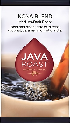 Java Roast Gourmet Kona Ground Coffee with Filters; Regular, 1.75 oz., 24 Packets